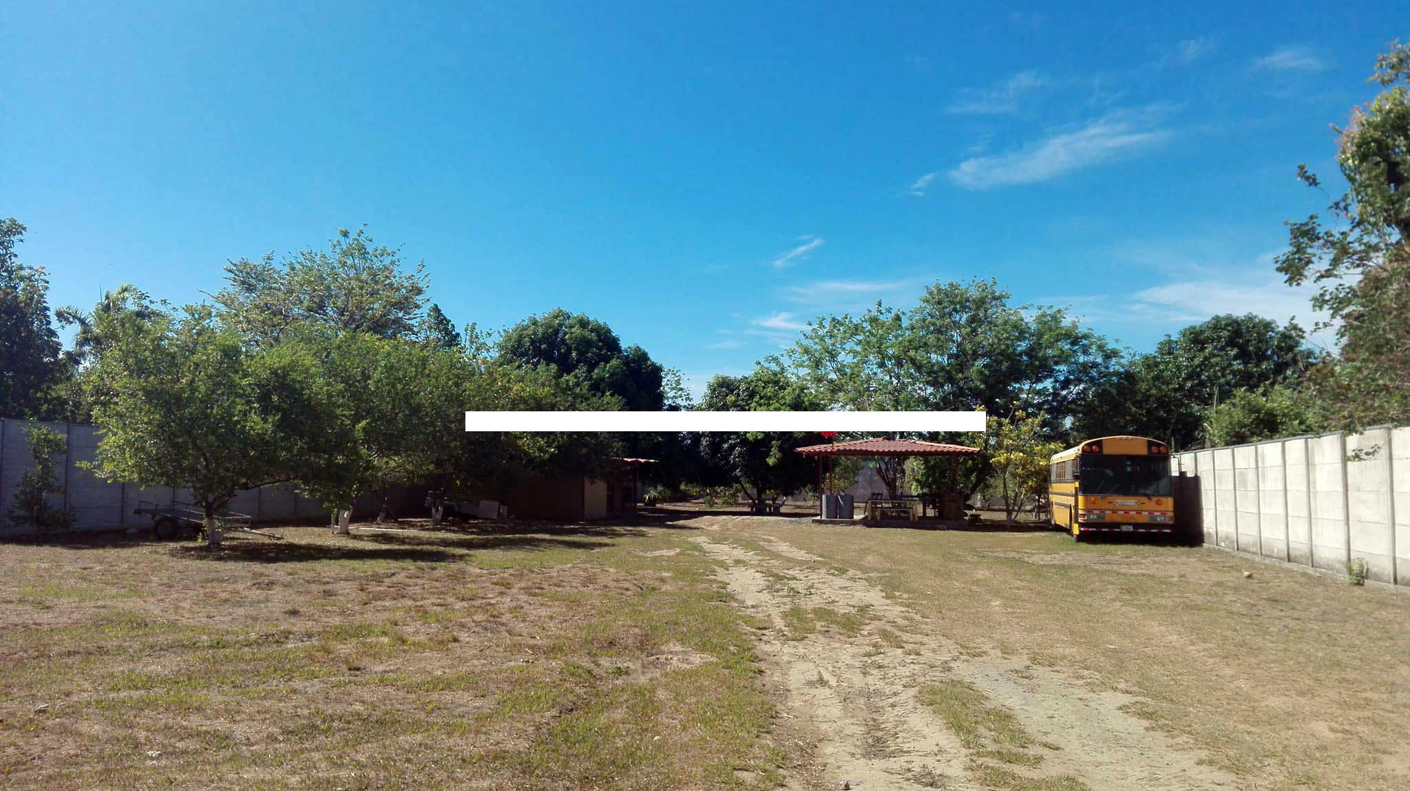 Current design of MP house in Liberia Guanacaste. House with long roof and ranch on the right